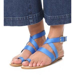 Tibi Hallie Cobalt Satin Sandal Azure 40 Shopbop
